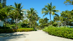 Atlantic Way Bal Harbour pathway - stock footage