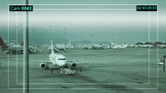 Internation Airport parking area in Hong Kong. Stock Footage