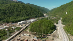 Russia. Sochi - 2013: V HD Aerial view of the beautiful landscape. Stock Footage