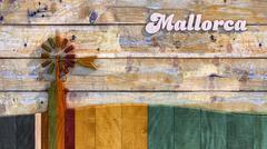 Traditional windmill in Mallorca, Balearic Islands Stock Illustration