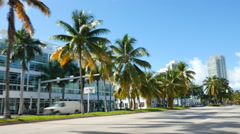 C Miami Beach 5th Street Stock Footage