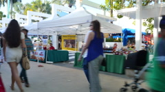 Lincoln Road Farmers Market Stock Footage