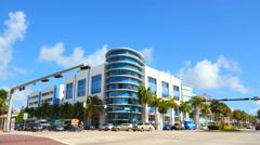 Miami Beach deco architecture Stock Footage