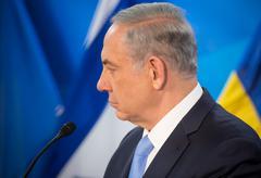 Israeli Prime Minister Benjamin Netanyahu - stock photo