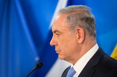 Stock Photo of Israeli Prime Minister Benjamin Netanyahu