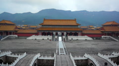 Chinese ancient palace Stock Footage
