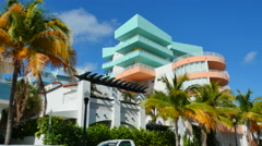 Modern deco Miami Beach Stock Footage