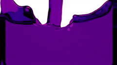 Violet liquid fills up screen, with alpha matte FULL HD Stock Footage