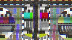 TV test card noise 4k Stock Footage