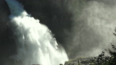 View of a waterfall krimml austria slowmo - stock footage