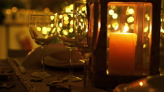 Dining table at christmas detail Stock Footage