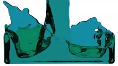 Blue liquid fills up screen, with alpha matte FULL HD Stock Footage