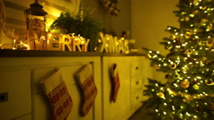merry christmas at home - stock footage