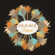 Palm tree print - stock illustration