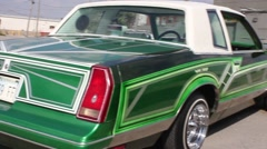 Green Lowrider with Hydraulics Stock Footage