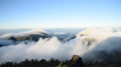 Clouds running over mountain. Stock Footage
