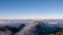 Clouds running over mountain Stock Footage