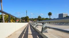 Bridge pedestrian path Stock Footage