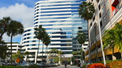 Broward Financial Building Ft. Lauderdale - stock footage