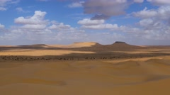 Stock Video Footage of Sahara Desert, Tembaine, Tunisia. Typical landscape.