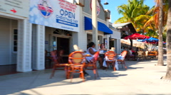 Fort Lauderdale Beach restaurants Stock Footage