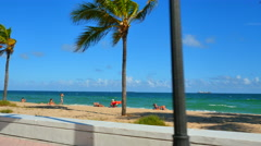 Fort Lauderdale Beach sand Stock Footage