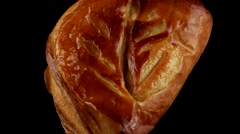 Delicious apple puff pastry Stock Footage