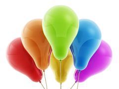 Multi colored decorative balloons - stock illustration
