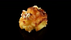French choux pastry (chouquette) Stock Footage
