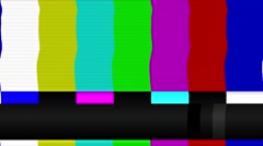 TV Color Bars bad signal PAL Stock Footage