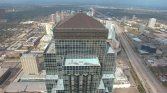 Aerial View of Williams Tower in Houston Stock Footage