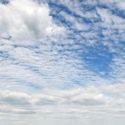 cumulus clouds - stock photo