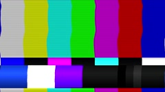 TV Color Bars bad signal NTSC Stock Footage