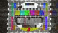 TV test card noise 4k ghost Stock Footage