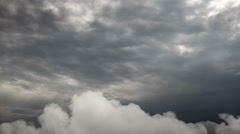 Storm clouds. View and movement from airplane. Stock Footage