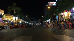 Timelapse view of night Ben Thanh market in HCMC Stock Footage