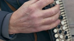 man playing the accordion accordion arm - stock footage