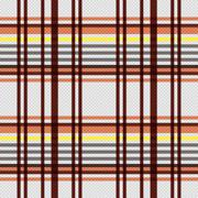 Rectangular seamless pattern in warm colors Stock Illustration