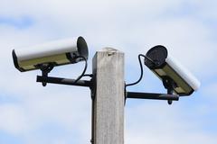 Viedeo Surveillance Cameras - stock photo