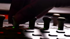 man musician brings music mixer music studio remote - stock footage
