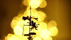 Angel chimes closeup Stock Footage