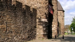 Exterior of the Hell gate in Maastricht, Netherlands. Stock Footage
