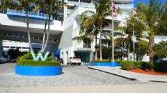 W hotel Ft. Lauderdale FL Stock Footage