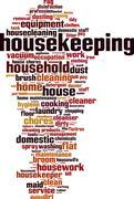 Housekeeping word cloud Stock Illustration