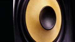 Sound vibration music speaker recording studio Stock Footage