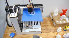 3D Printer in Action Stock Footage
