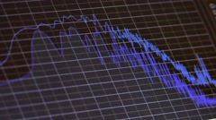 Sound wave music chart on monitor Stock Footage