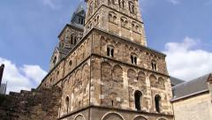 Exterior of the Saint Servatius church in Maastricht, Netherlands. Stock Footage