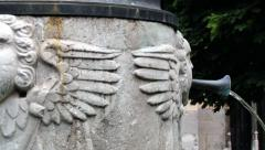 Detail of the fountain in Saint Servatius church in Maastricht, Netherlands. Stock Footage