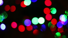 The lights of the Christmas tree - stock footage